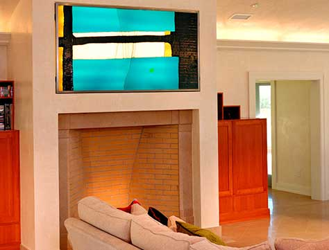 Art Glass Door, Glass Painting