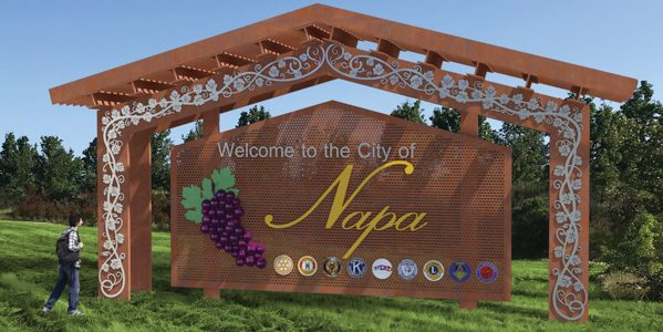 "Gordon Reveals His Design For The New City of Napa ""Welcome"" Signs"