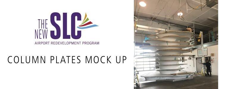 Salt Lake City Int'l Airport 'Column Plates' Mock Up in Studio