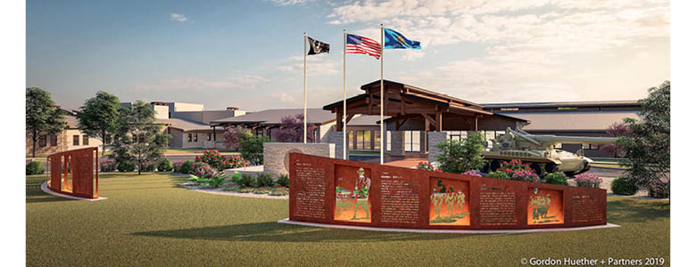 Gordon Huether Studio Recently Awarded Sallisaw Veterans Center Commission