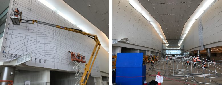Installation at the Salt Lake City Int'l Airport has begun!