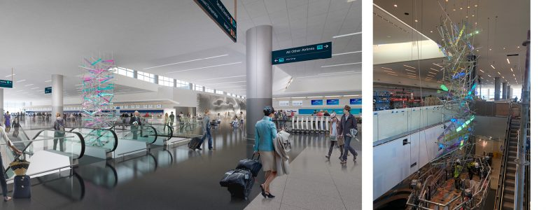 "Installation of ""The Falls"" at the Salt Lake City Int'l Airport is Now Complete!"